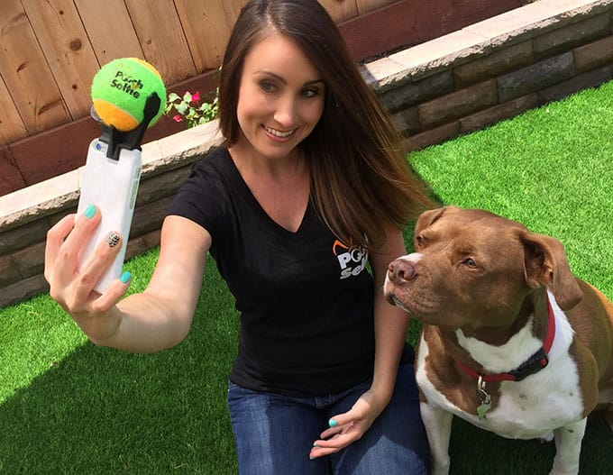 Pooch Selfie tennis ball toy