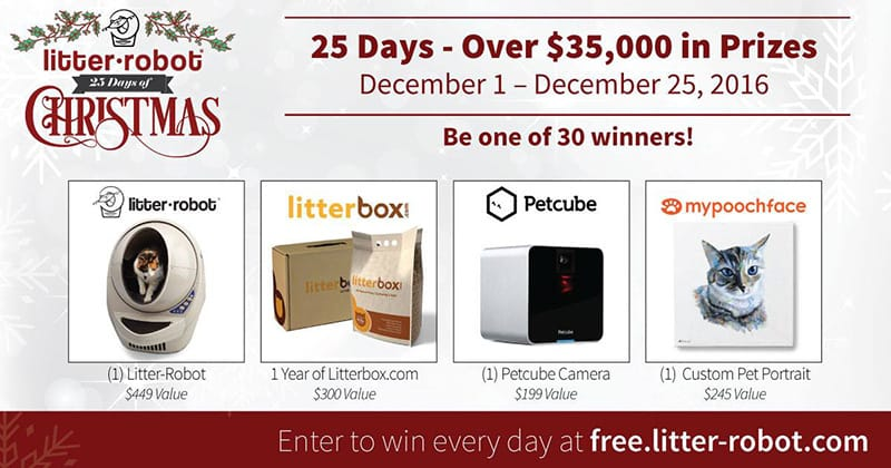 Petcube and Litter-Robot 25 Days of Christmas Giveaway