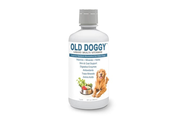 Photo of a supplement for old dogs.