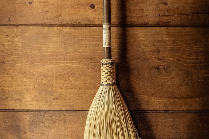 Photo of a good old broom