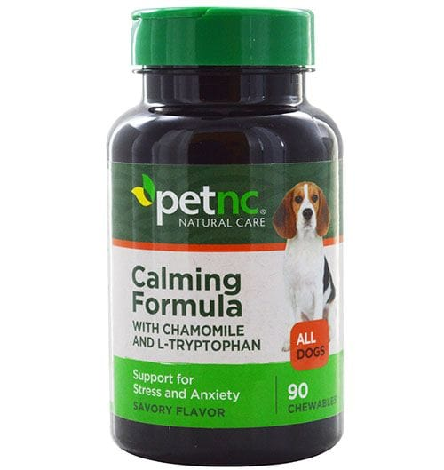 A photo of a calming supplement for dogs