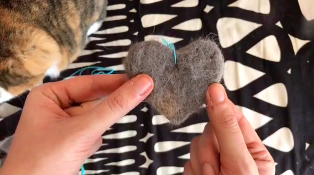 cat hair crafting