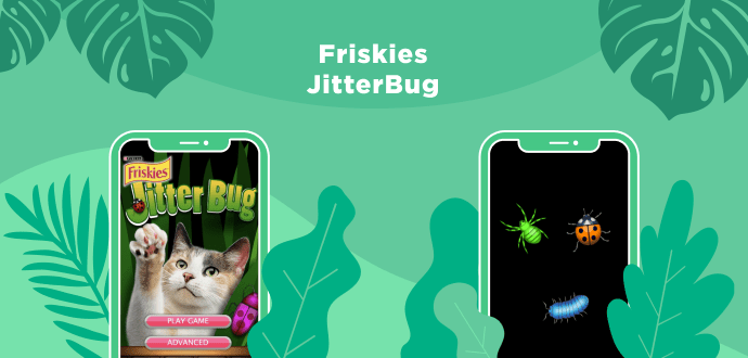Friskies catch bugs game app for cats
